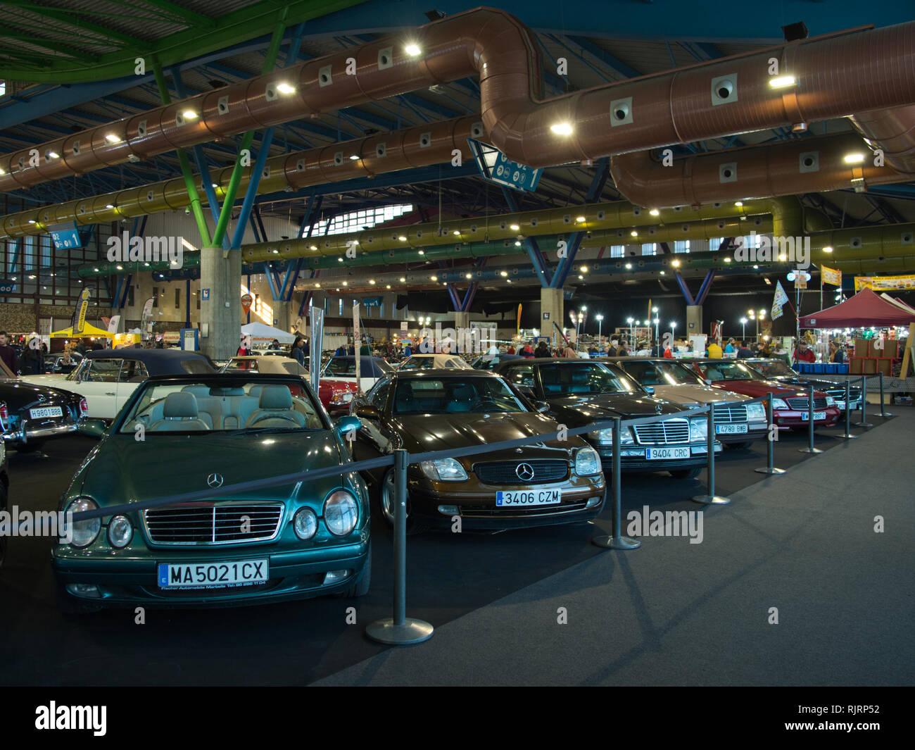 Mercedes-Benz. Retro Málaga 2019. Spain. Stock Photo
