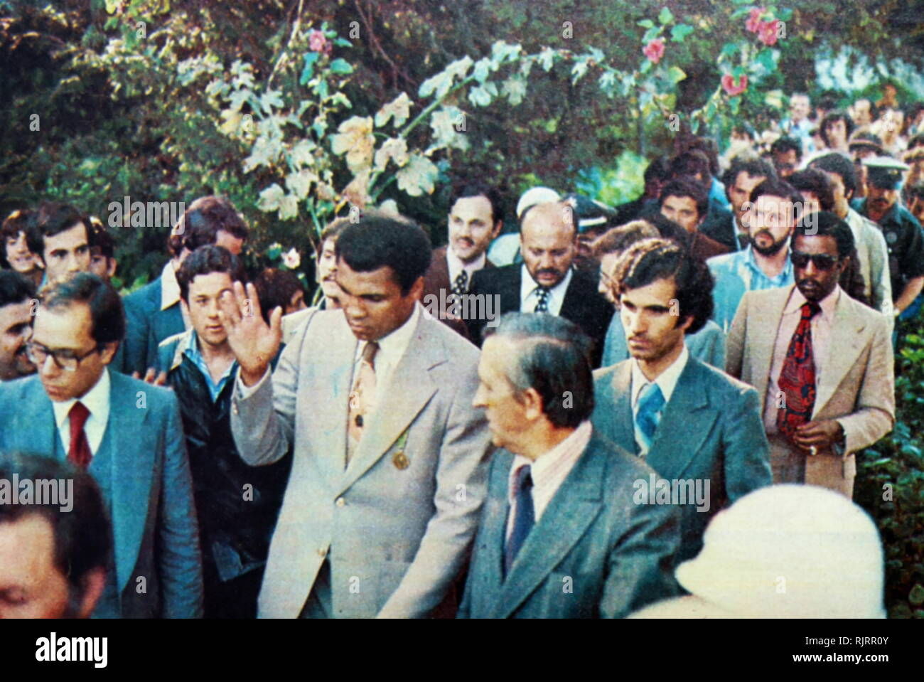 1976, visit to Turkey by Muhammad Ali,(1942 - 2016). Ali was an American professional boxer and activist; He is widely regarded as one of the most significant and celebrated sports figures of the 20th century. - Stock Image