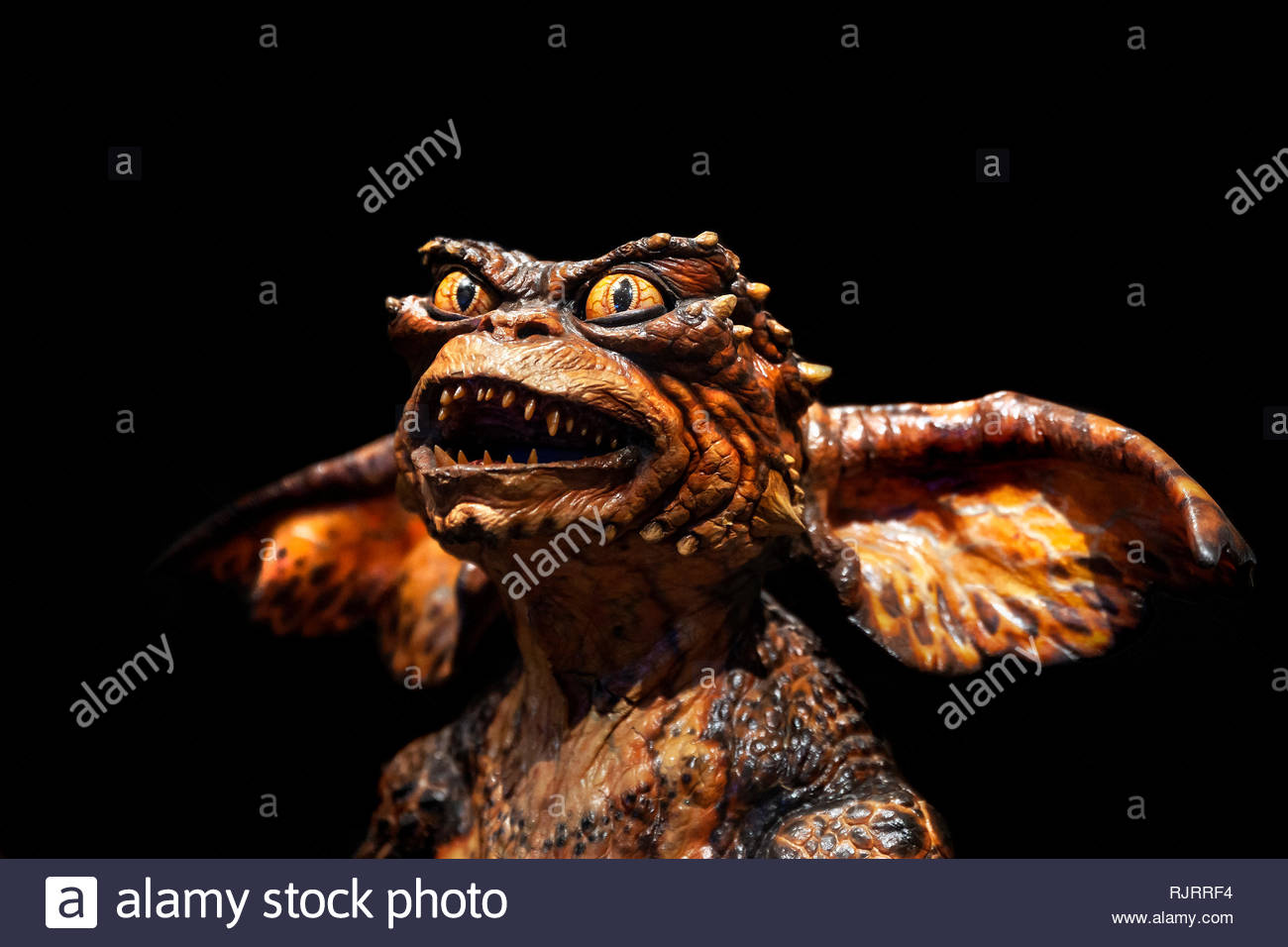 Gremlin creature seen in Gremlins 2: The New Batch, comedy horror movie Directed by Joe Dante and Chuck Jones in 1990 Stock Photo