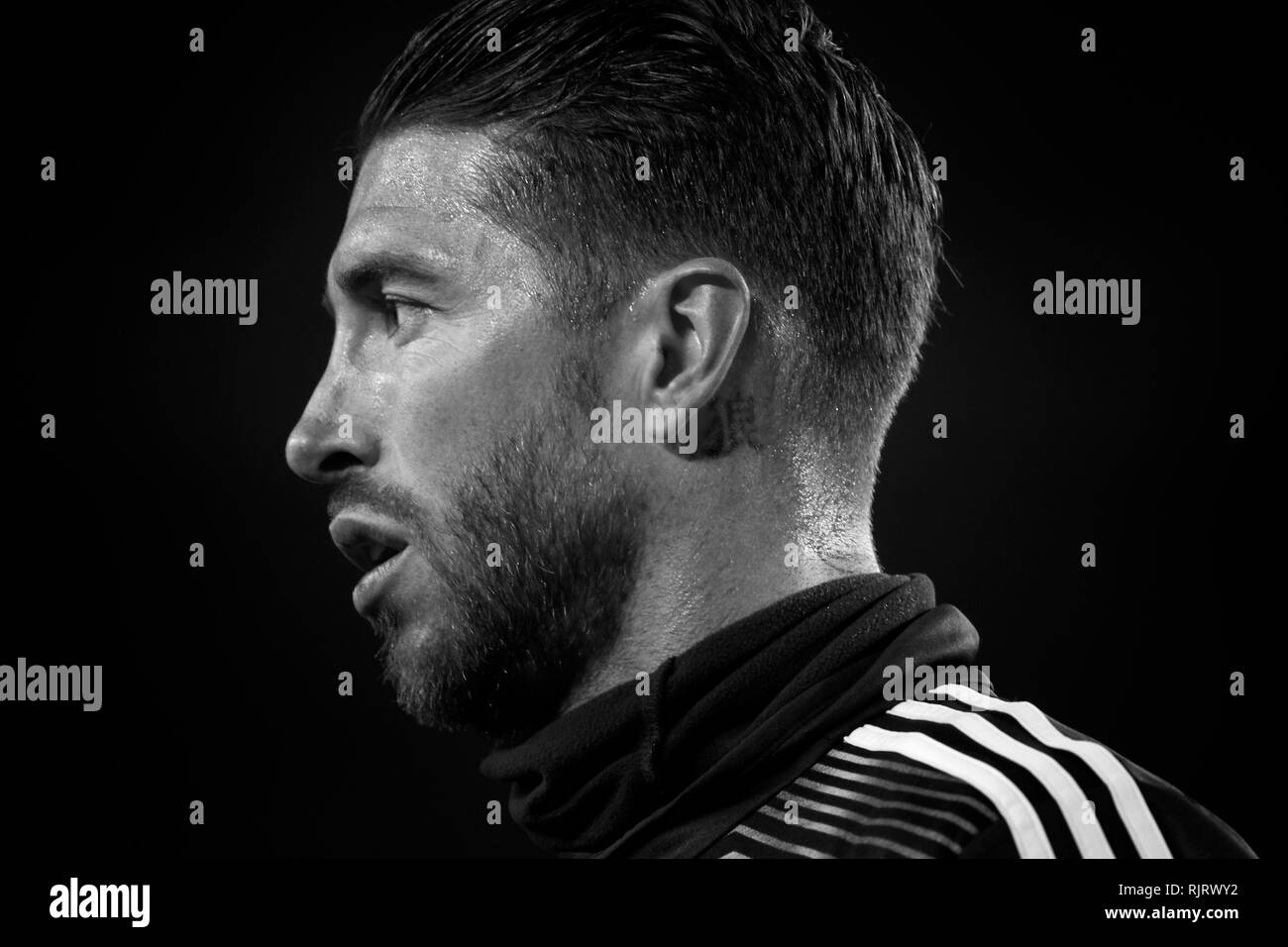 Black And White Madrid sergio ramos black and white stock photos & images - alamy