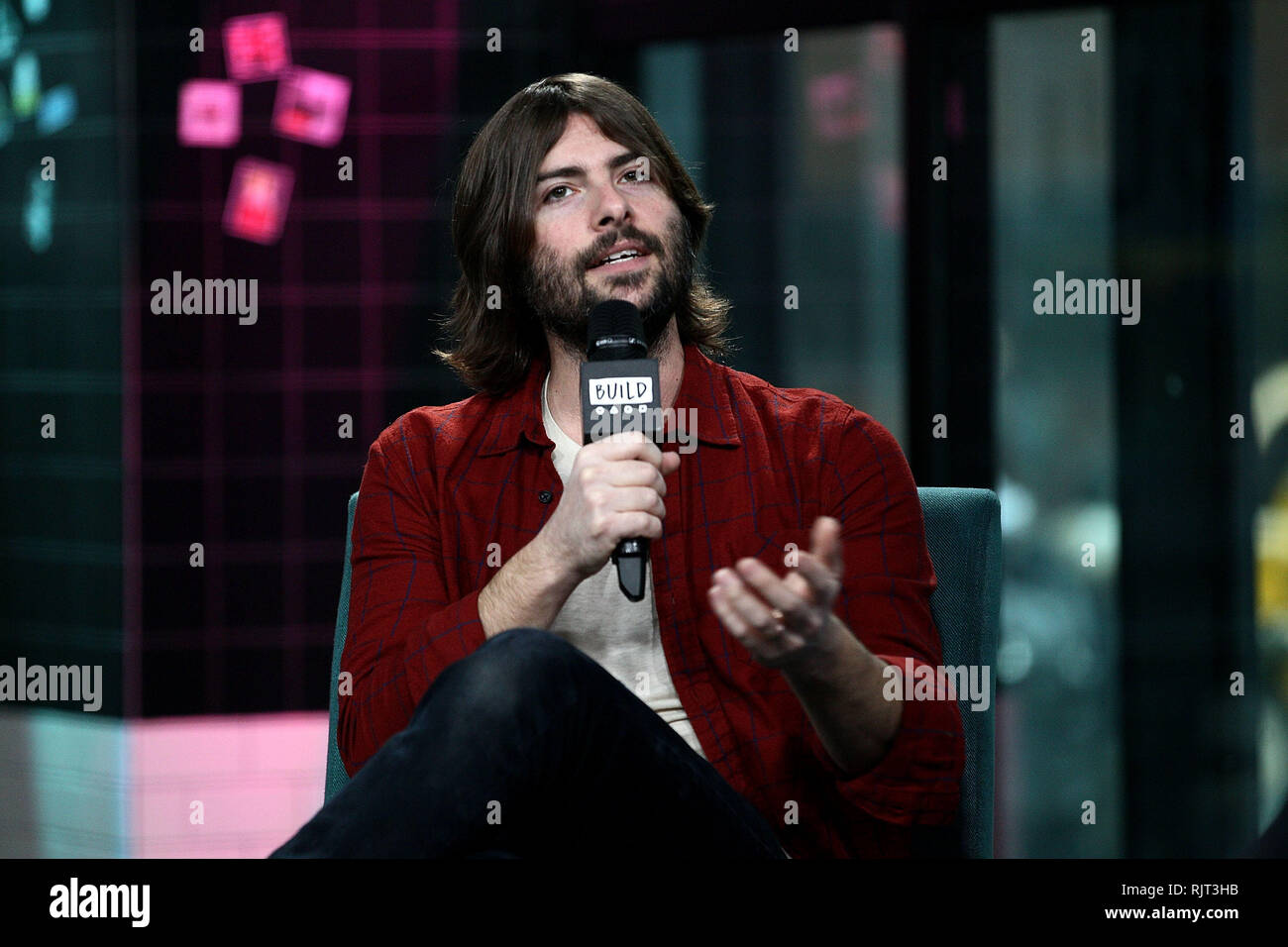 New York, USA. 07 Feb, 2019. Robert Schwartzman visits The Thursday, Feb 7, 2019 BUILD Series Inside Candids discussing 'The Unicorn' at BUILD Studio in New York, USA. Credit: Steve Mack/S.D. Mack Pictures/Alamy Live News - Stock Image