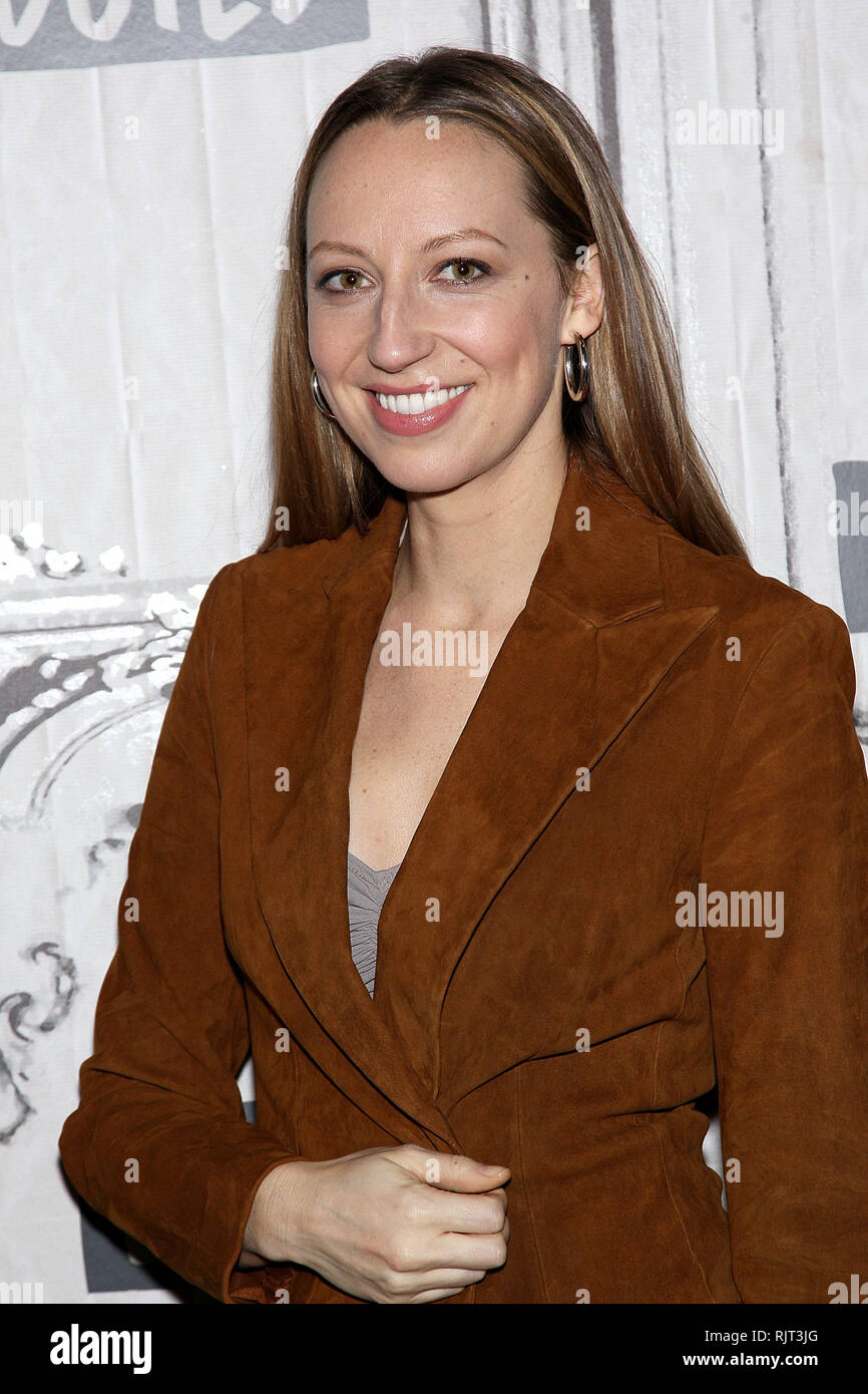New York, USA. 07 Feb, 2019. Anna Konkle visits The Thursday, Feb 7, 2019 BUILD Series Inside Candids discussing 'Pen15' at BUILD Studio in New York, USA. Credit: Steve Mack/S.D. Mack Pictures/Alamy Live News - Stock Image