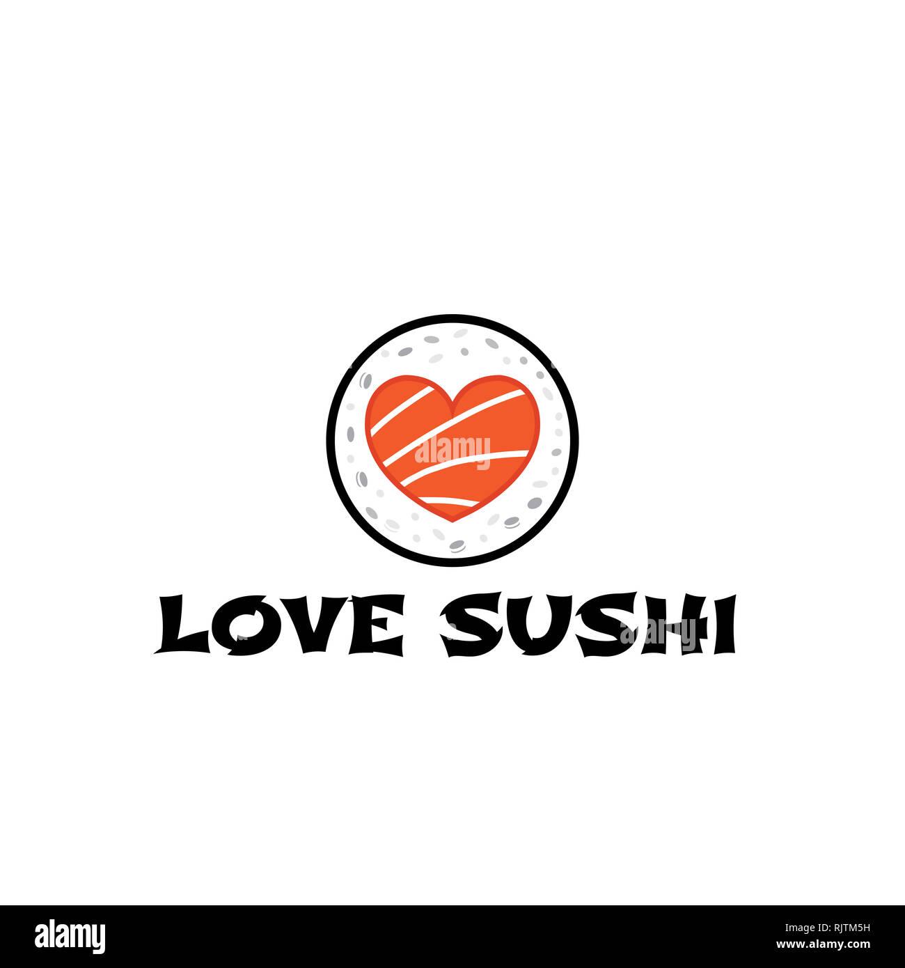 Logo Sushi Restaurant Japanese With Chopstick Stock Photo Alamy
