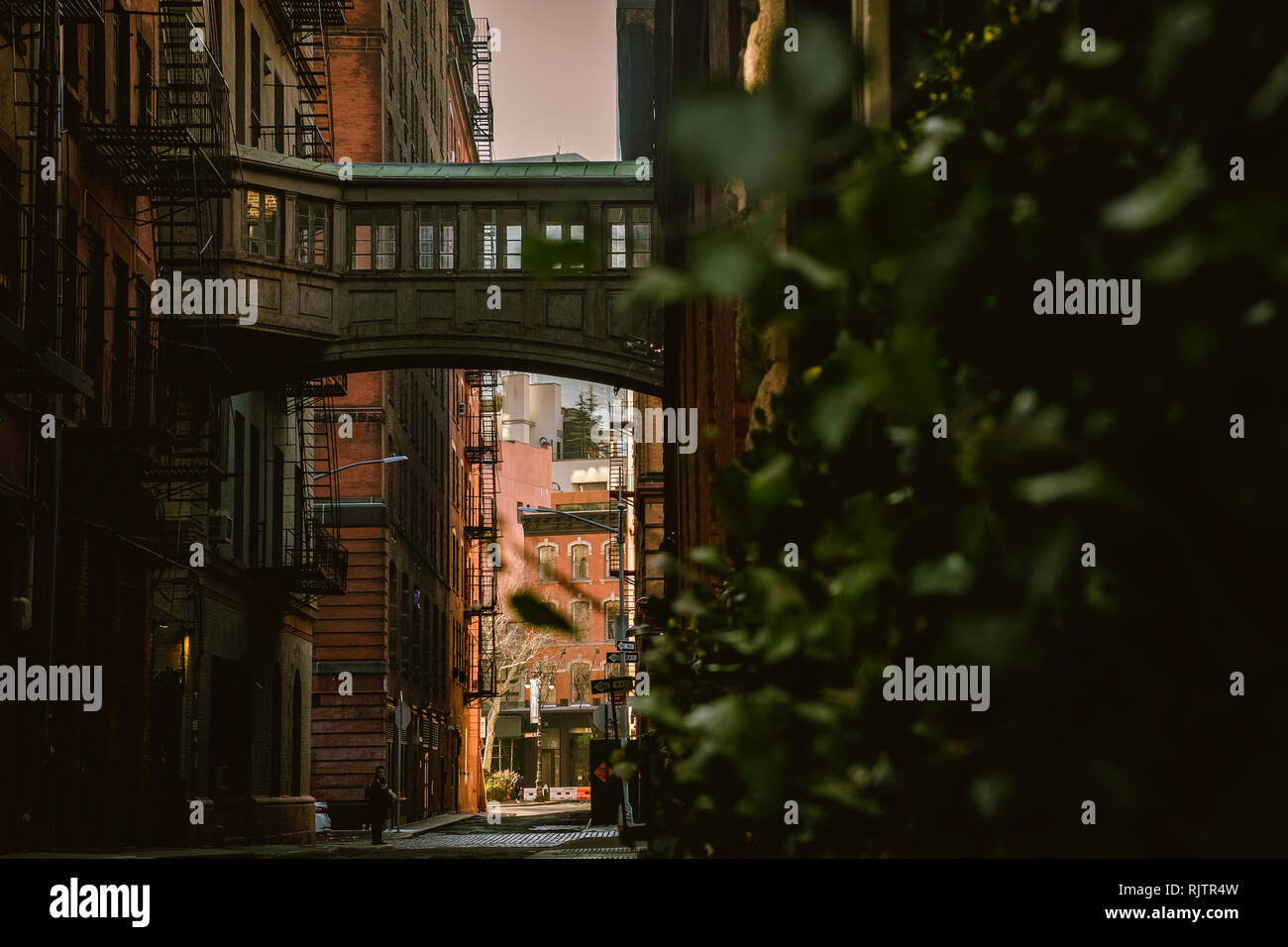 Staple Street Skybridge - Stock Image