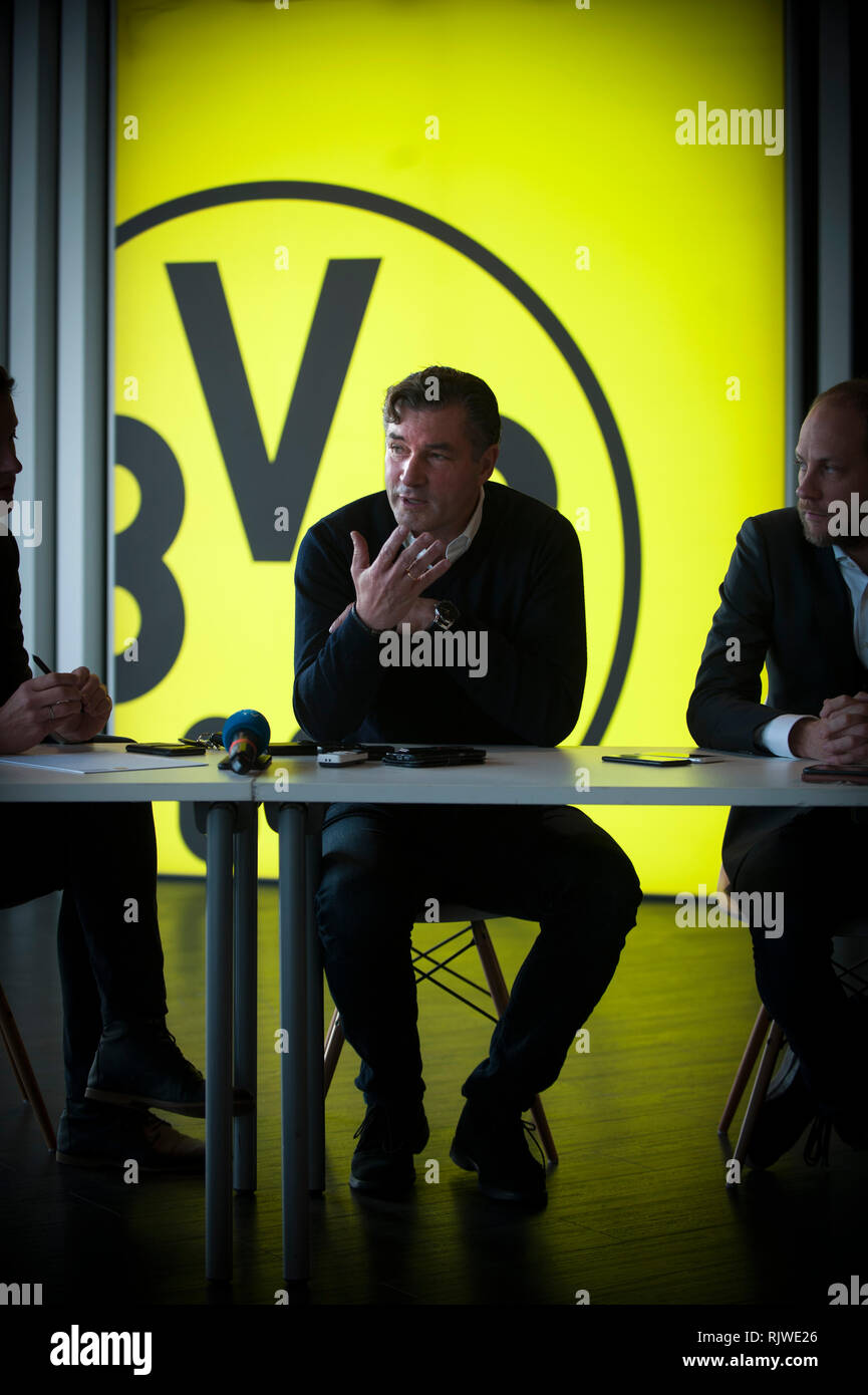 Michael Zorc photographed at Borussia Dortmund's grounds in Germany. He is the club's sporting director. - Stock Image