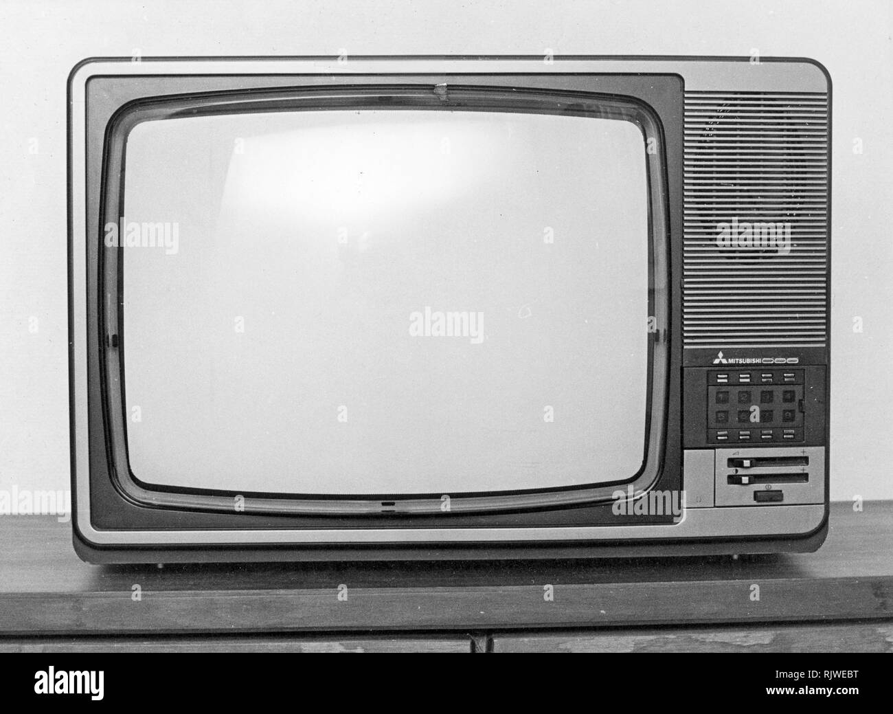 Television in the 1970s  A Mitsubishi tv set 1979 Stock