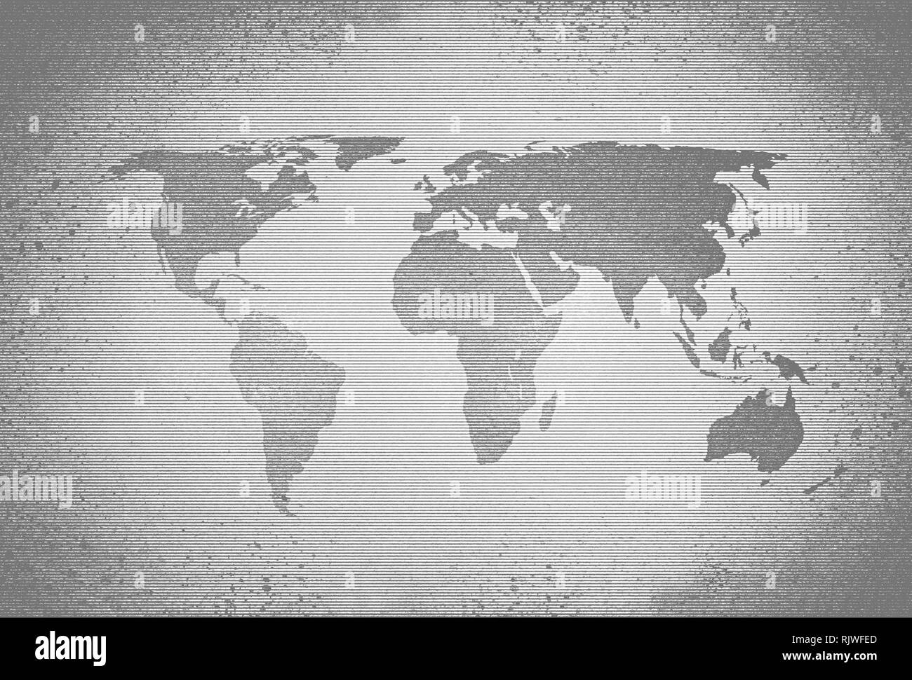 Black And White World Map With Countries.World Map Black And White Countries Stock Photos World Map Black