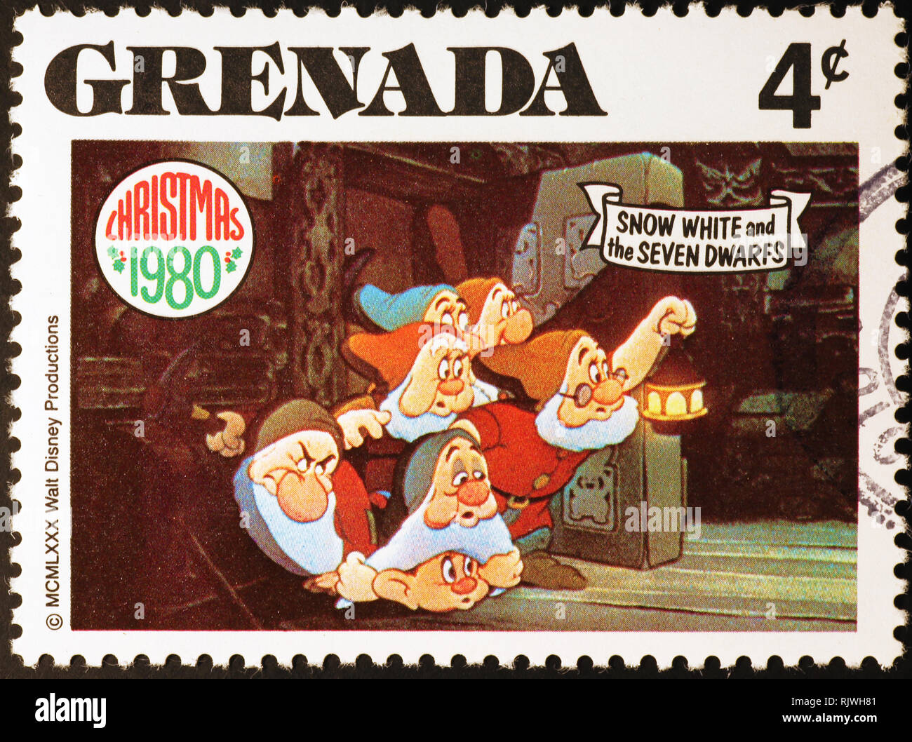 Snow White /& the Seven Dwarfs Dies and Face Stamps New