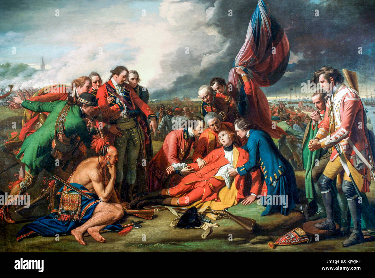 The Death of General Wolfe, Benjamin West, 1770 - Stock Image