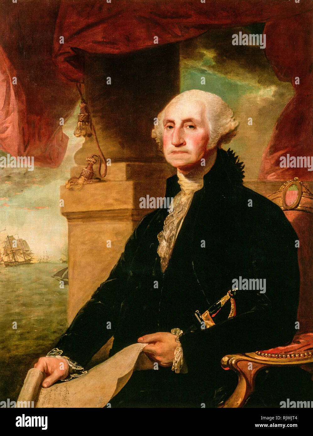 George Washington (The Constable-Hamilton portrait), painting by Gilbert Stuart, 1794 Stock Photo