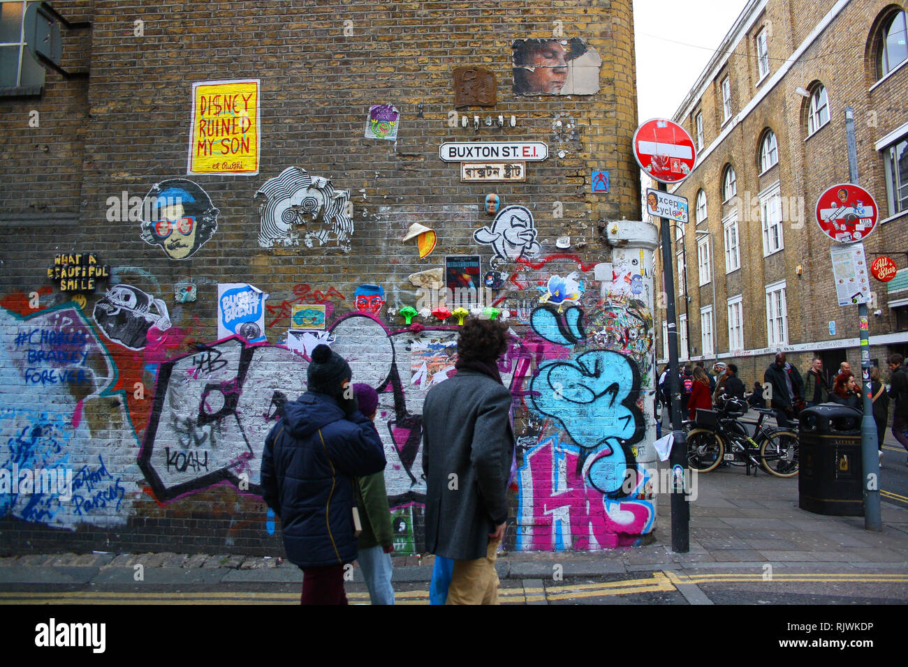 Street art, Brick Lane area, Shoreditch, London Stock Photo