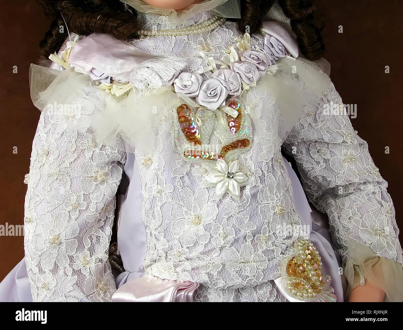 Vintage Collectible The Welden Museum Of Fine Collectibles Doll, Helene of The Queen`s Court. - Stock Image