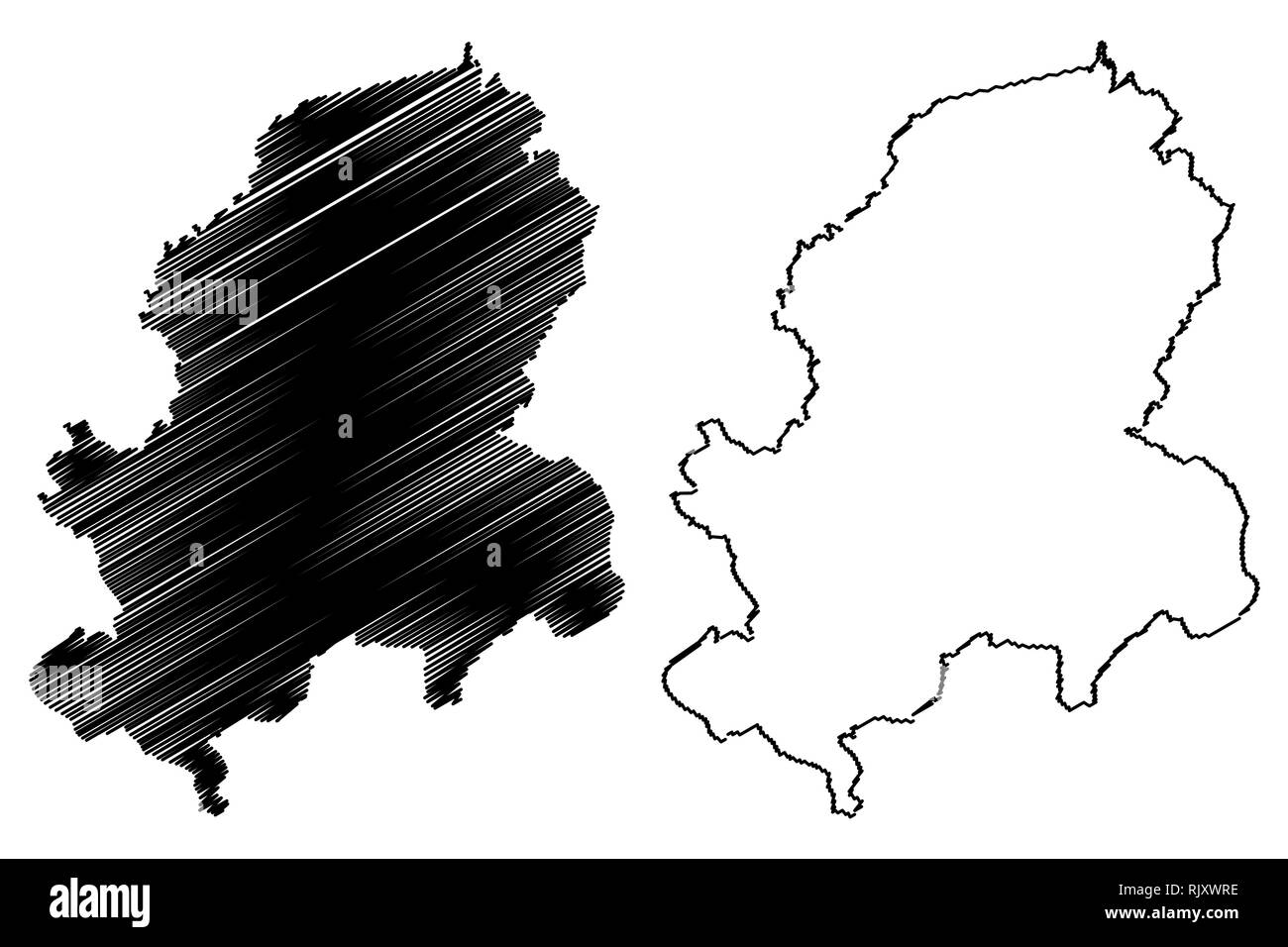 Dong Nai Province (Socialist Republic of Vietnam, Subdivisions of Vietnam) map vector illustration, scribble sketch Tinh Dong Nai map - Stock Image