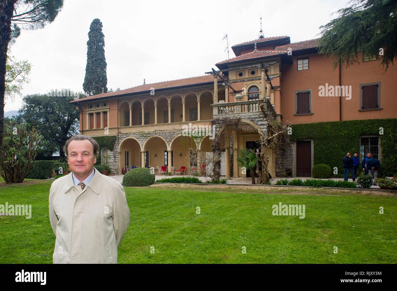 Italy, Lombardy, Sulzano (BS) Lago d'Iseo, Pietro Gussalli Beretta,  in the garden of Villa on the S. Paolo  island - Stock Image