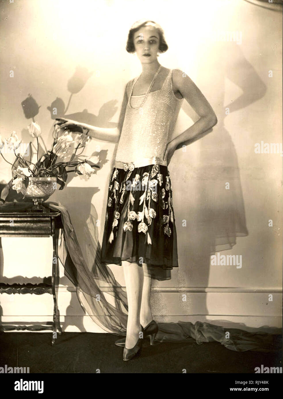 TWENTIES FASHION A long slim design sometimes called Maroussile - Stock Image