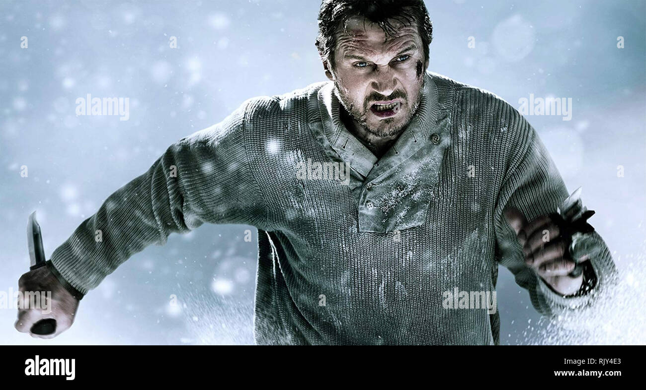 THE GREY 2011 Open Road film with Liam Neeson - Stock Image