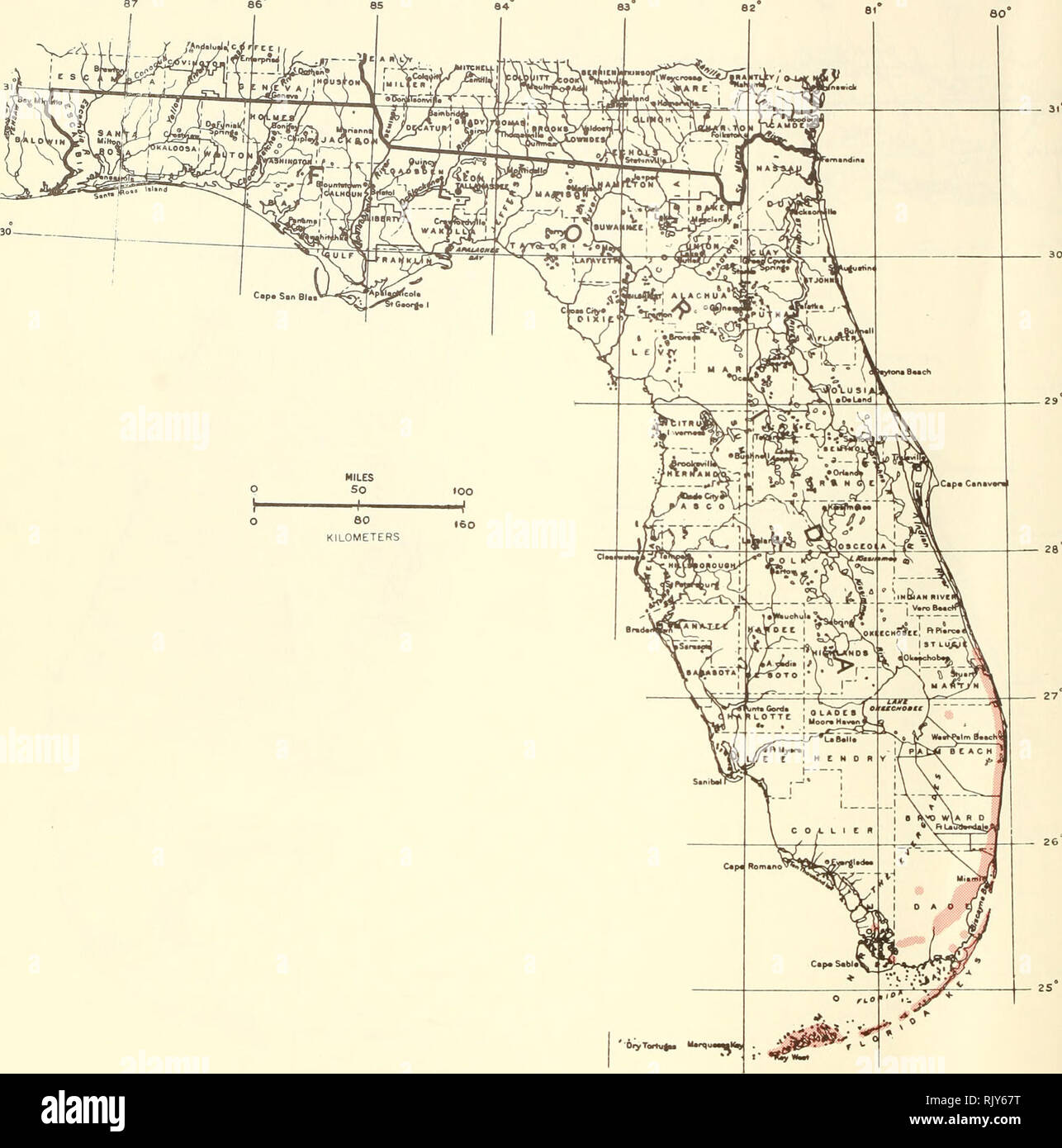 Map Of Florid Atlas of United States trees: volume 5. Florida. Trees. Map 225
