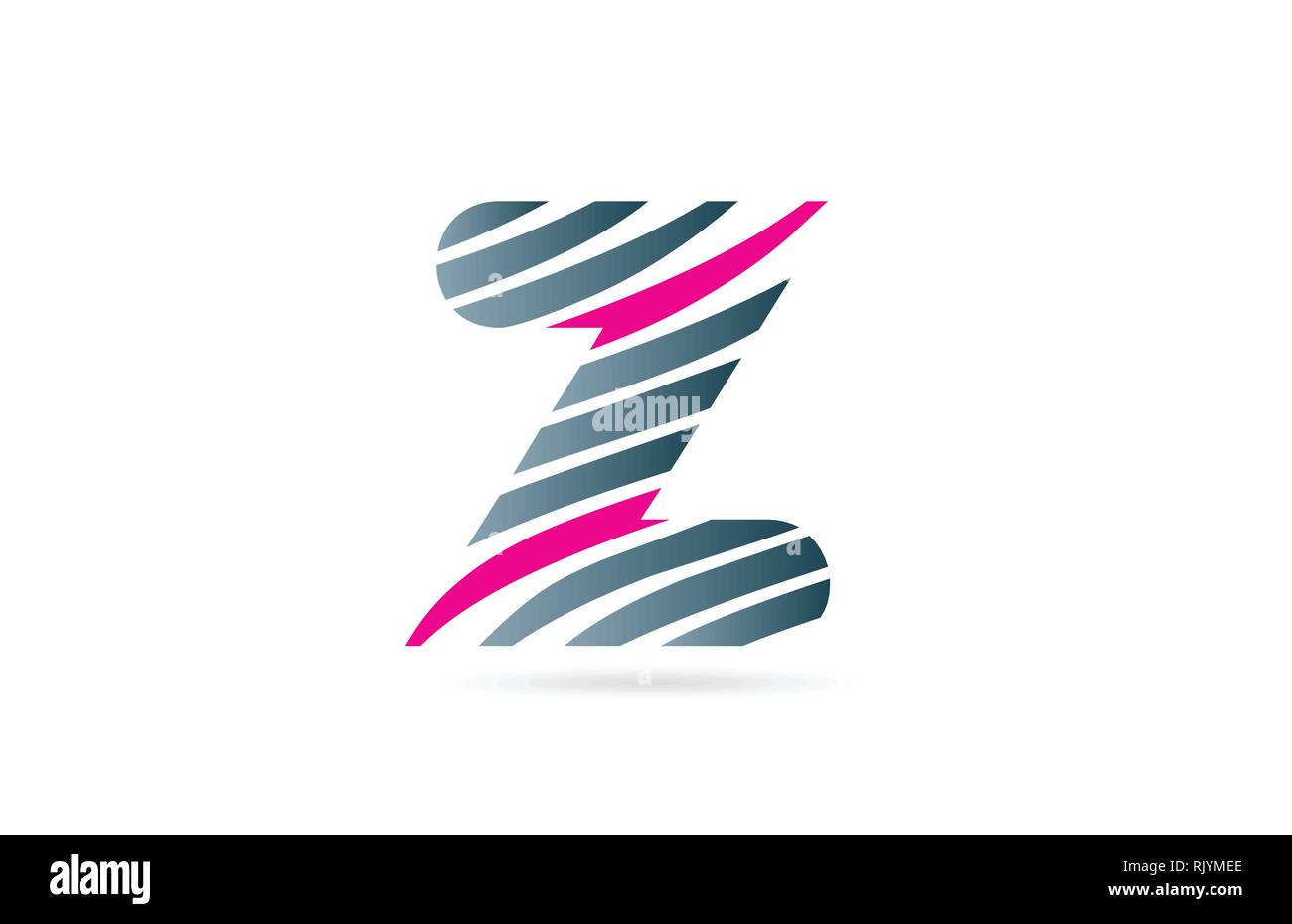 design of alphabet letter z with lines stripe as a logo for a