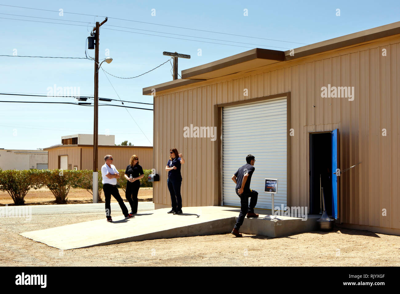 At the Mojave air and space port XCOR aerospace is opening their doors for a visit of future astronauts and business partners. - Stock Image