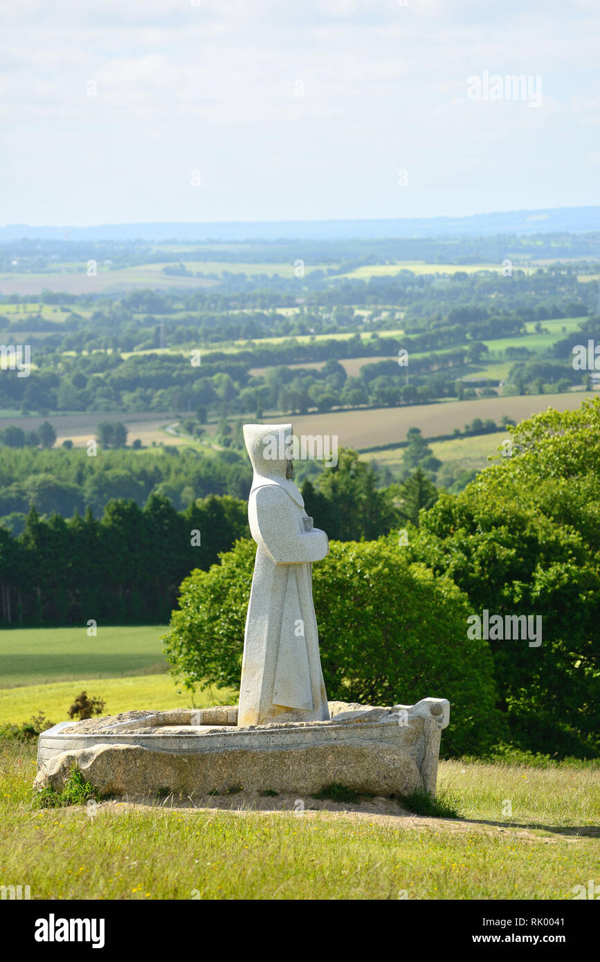 Carnoet (Brittany, north-western France): the Valley of the Saints. This project initiated by Philippe Abjean who wishes to create BrittanyÕs Easter I Stock Photo
