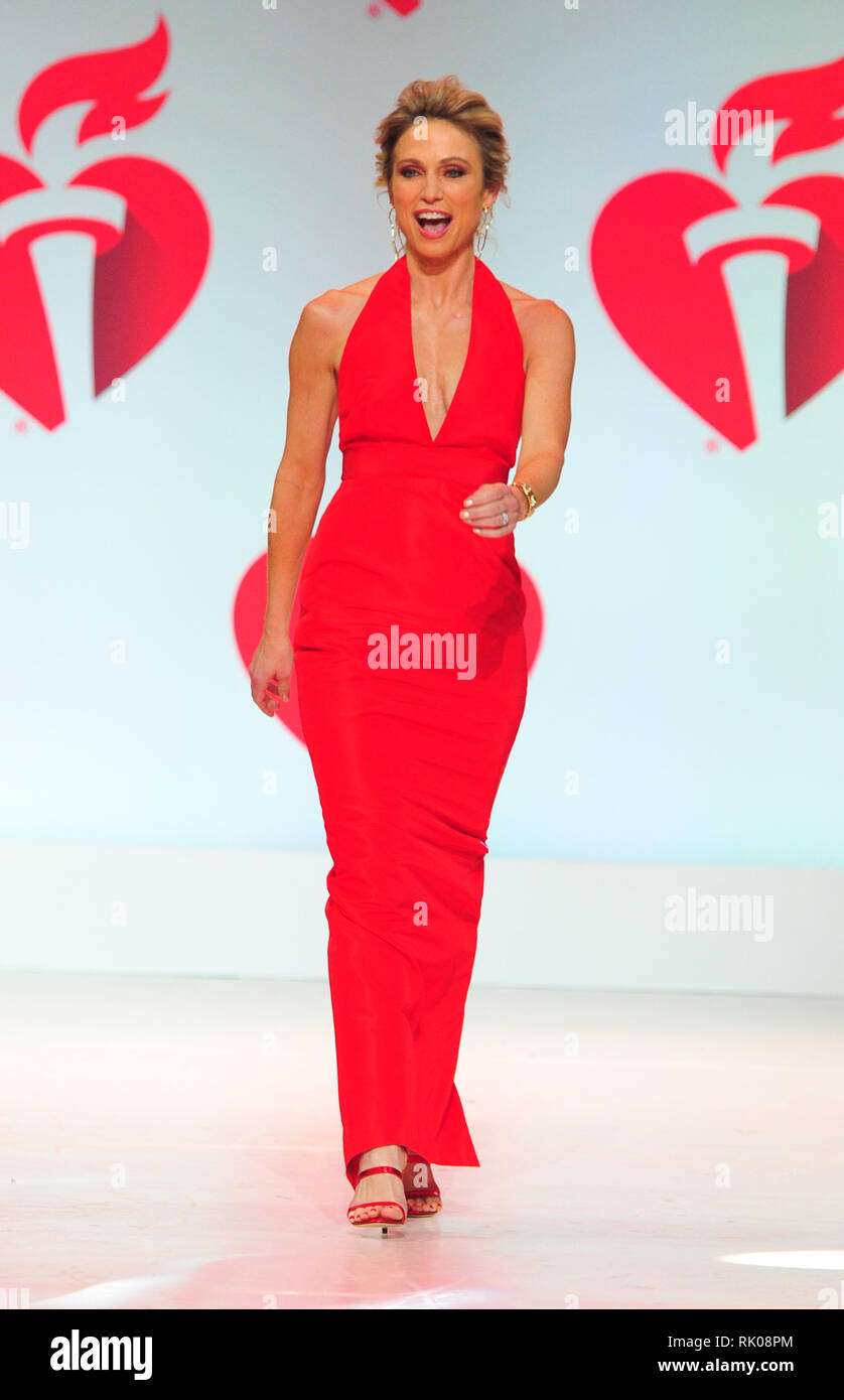 New York, NY, USA. 7th Feb, 2019. Amy Robach attends The American Heart Association's Go Red For Women Red Dress Collection 2019 Presented By Macy's at Hammerstein Ballroom on February 7, 2019 in New York City. Credit: John Palmer/Media Punch/Alamy Live News Stock Photo