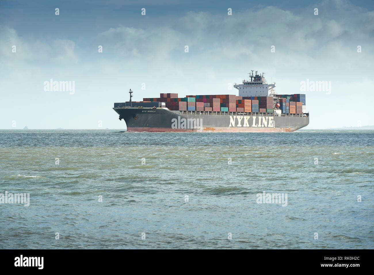 NYK LINE Container Ship, NYK NEBULA, Approaching The Port Of