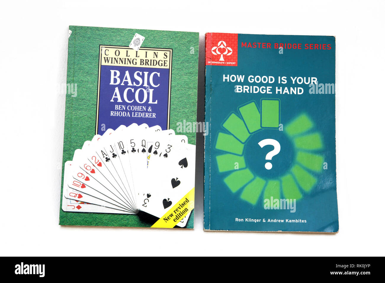 Books on Bridge - Collins Winning Bridge Basic Acol and How Good Is your Bridge Hand - Stock Image