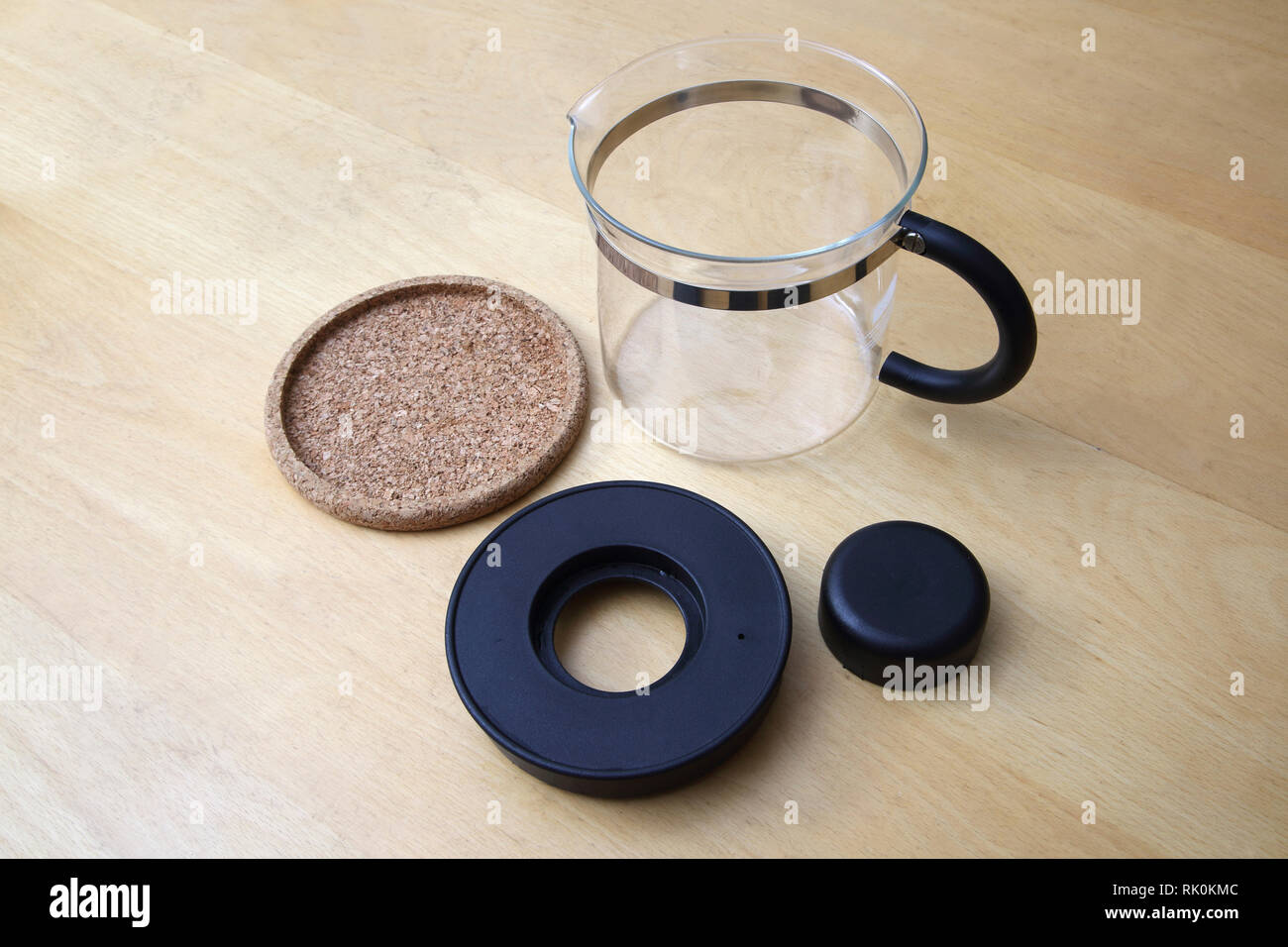 Vintage Bodum Coffee Server and Cork Base - Stock Image