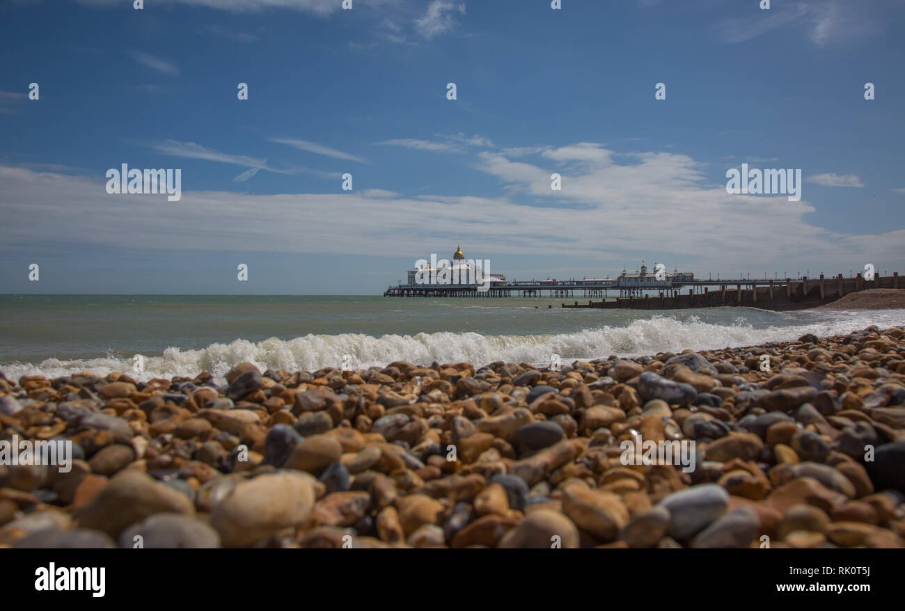 The pier from Eastbourne England - Stock Image