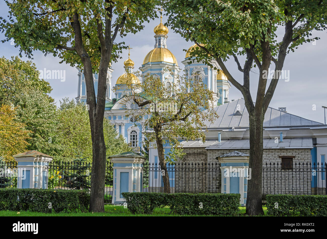 St. Nicholas Naval Cathedral or St Nicholas Maritime Cathedral, a major Baroque Orthodox cathedral and a major example of the so-called Elizabethan or - Stock Image