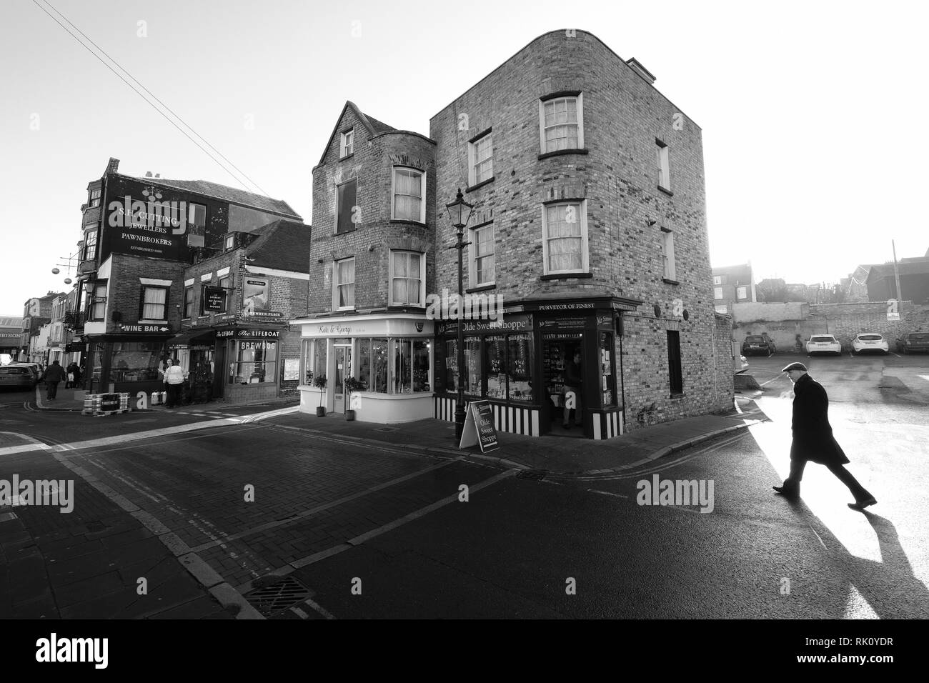 Margate traditional shop southeast coast kent stock image