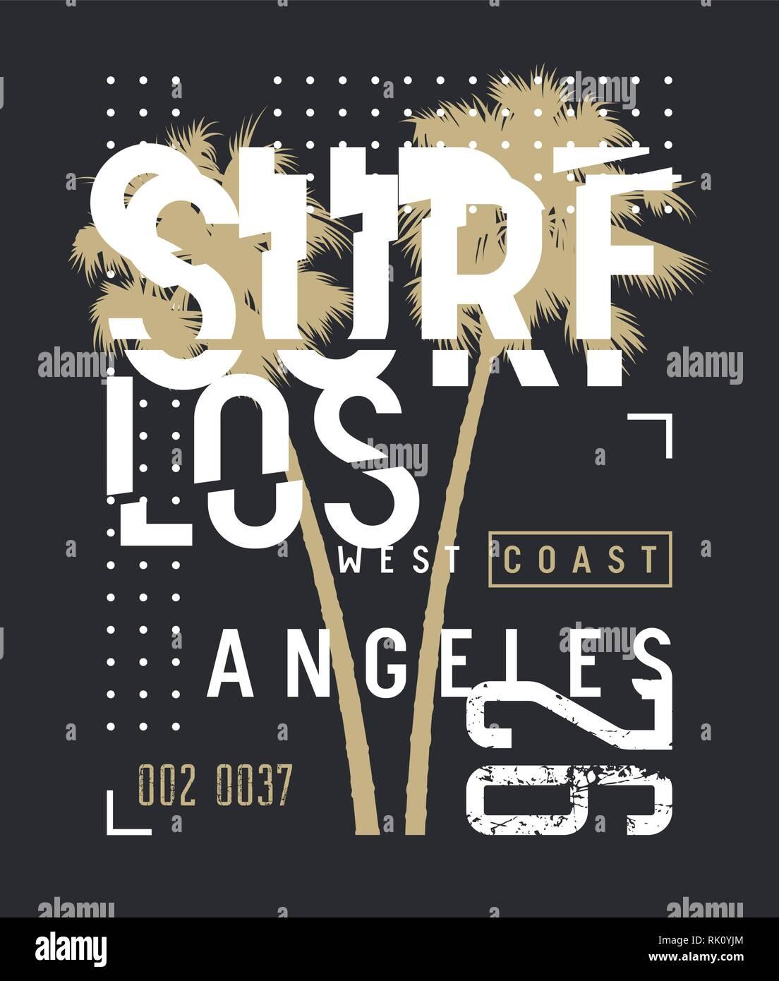 a317df78c1ddd Surf California t-shirt and apparel design. Surfing artwork. Trendy ...