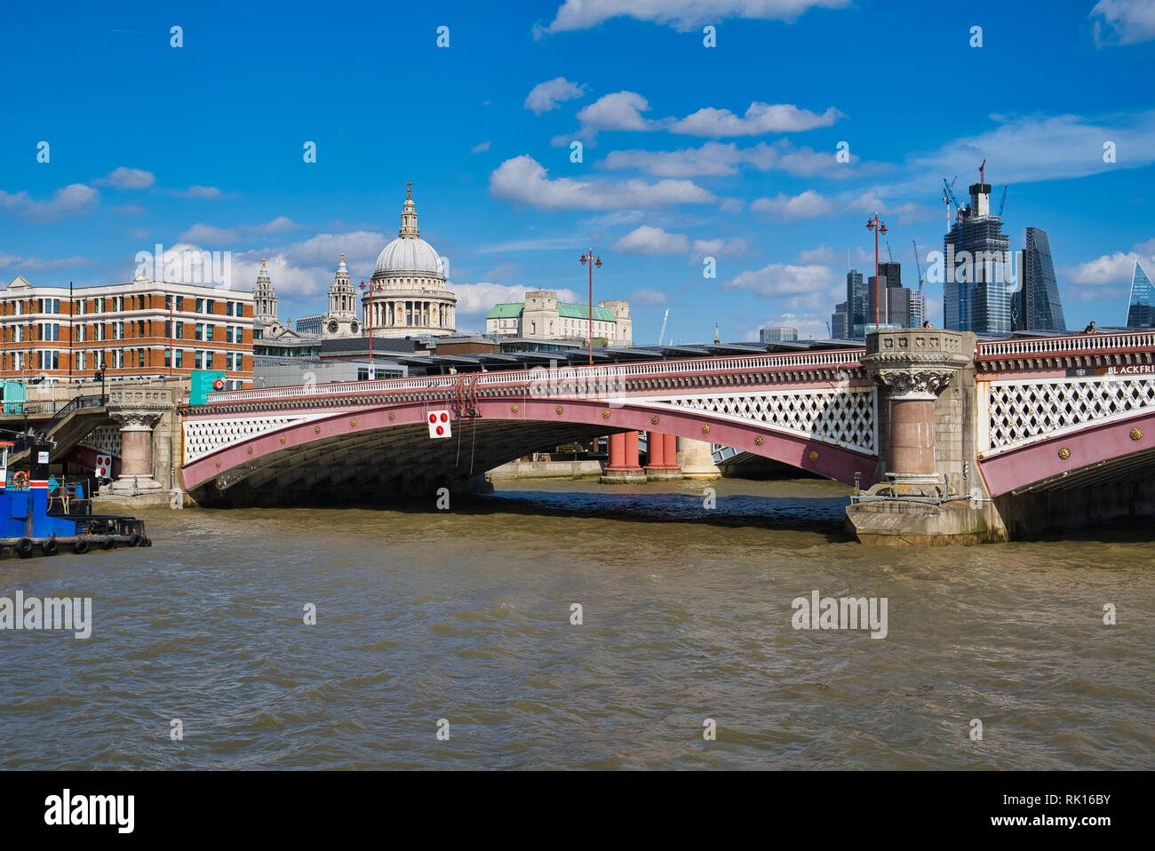 LONDON, UK - SEPTEMBER 9, 2018: Blackfriars Bridge is a road