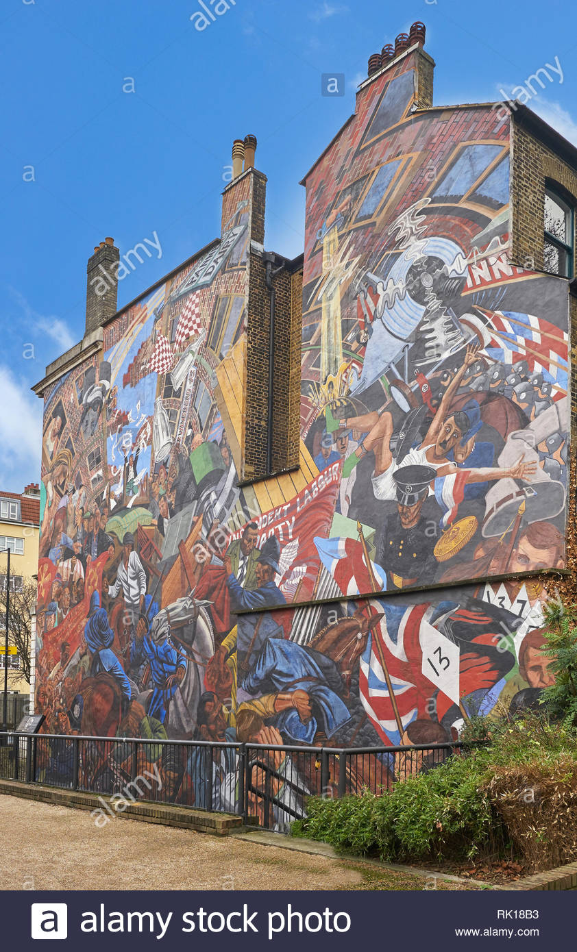 cable stree mural London Stock Photo