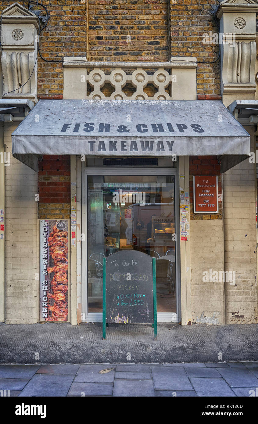 fish and chip shop jack the ripper goulton street Stock Photo