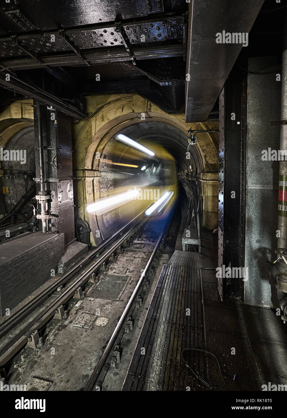 waping station wapping tunnel  thames tunnel Stock Photo