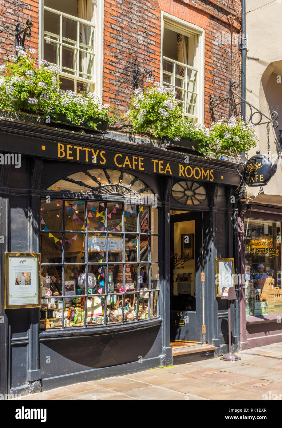 famous Bettys cafe and tea rooms on Stonegate city of York Yorkshire York Yorkshire England gb uk Europe - Stock Image