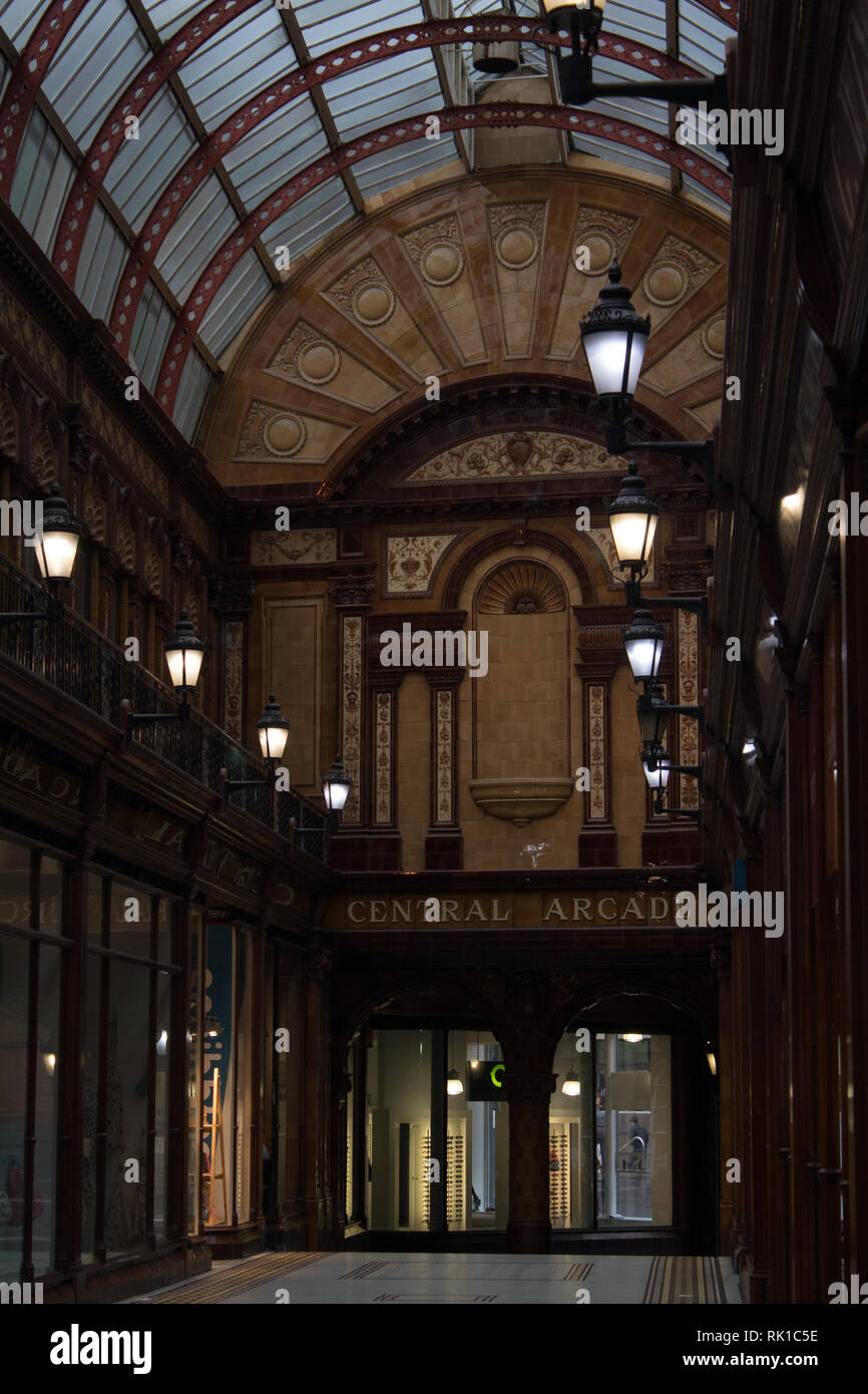 The Central Arcade in Newcastle upon Tyne, England UK Stock Photo