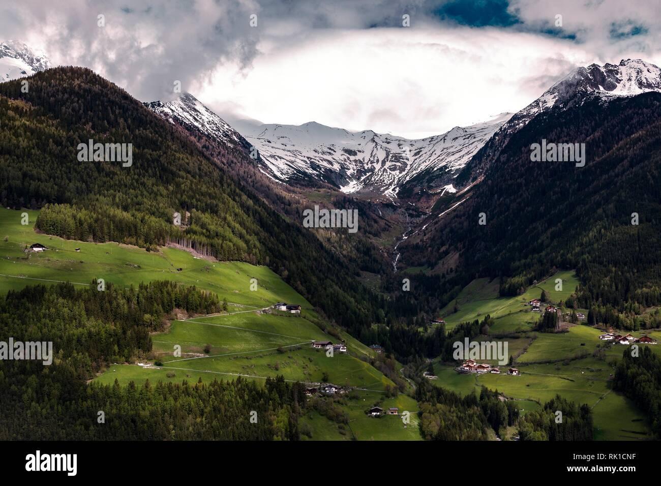 Cloudy mountain HD wallpaper - Stock Image