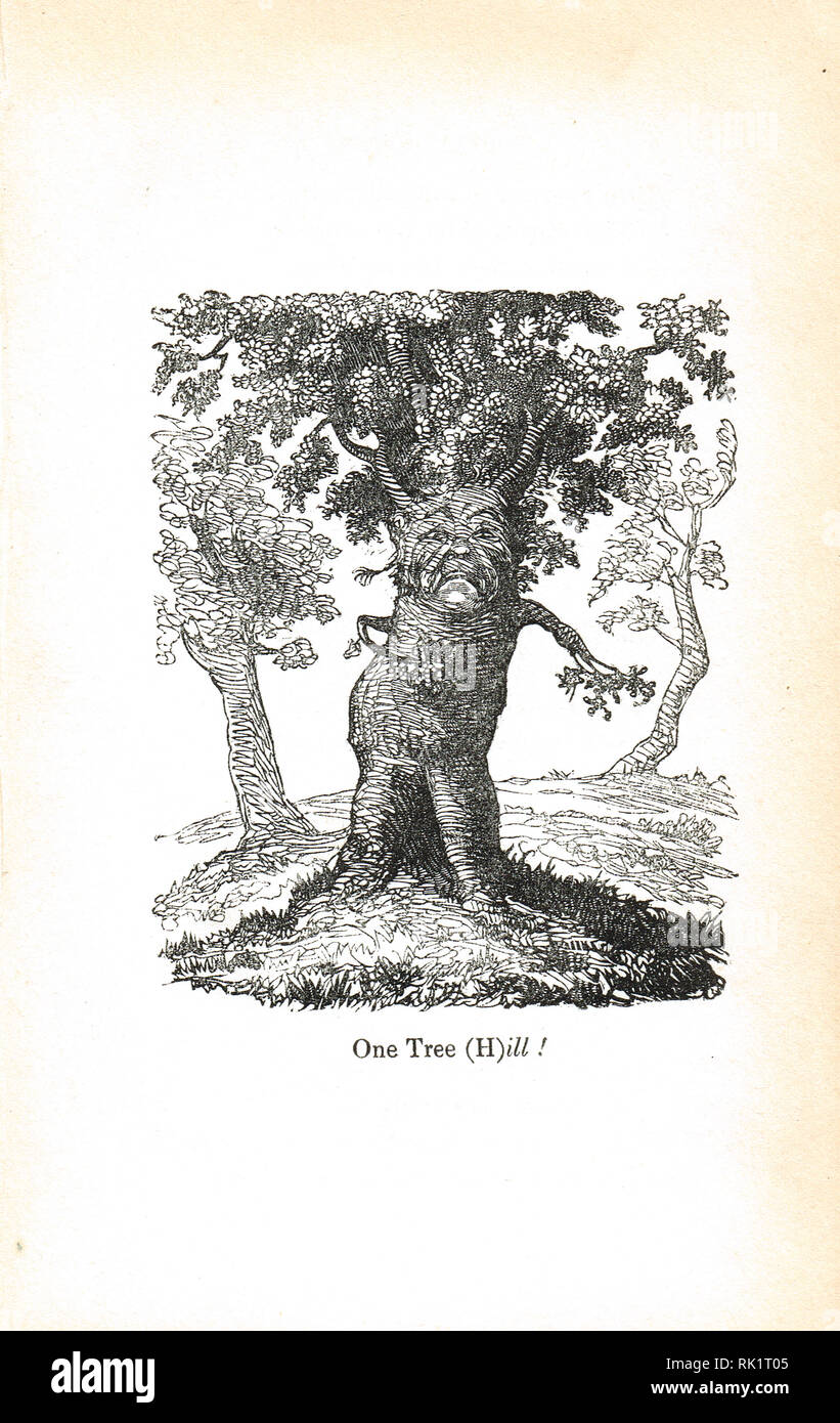 One Tree Hill/Ill. Georgian humour from the Comic offering, or Ladies' melange of literary mirth of 1834 - Stock Image