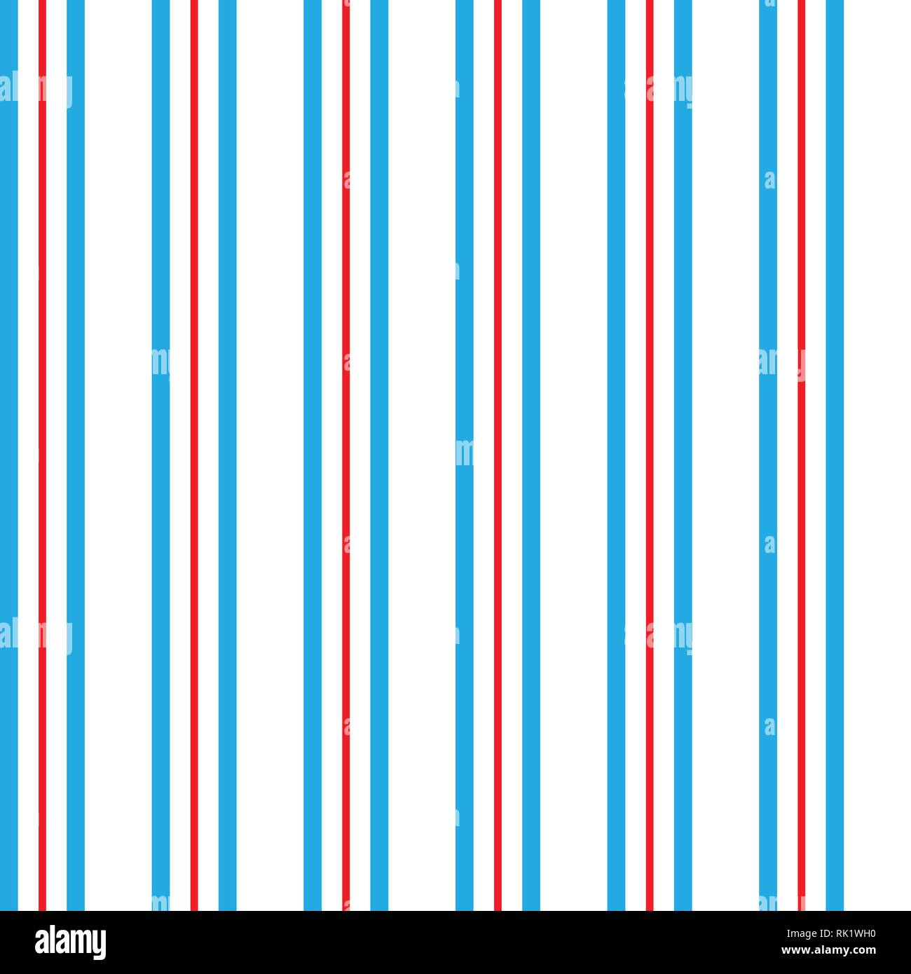 Seamless Vertical Line Pattern Vector Blue Red And White