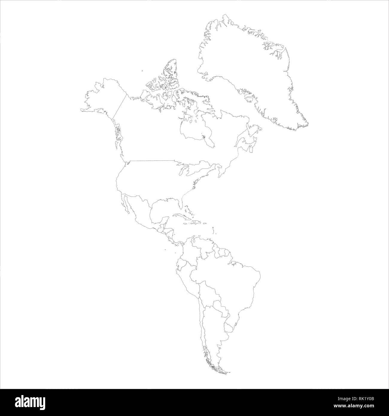 Vector illustration map of South and North America isolated ... on map of america map, drawing mexico map, united states of america map, drawing canada map, drawing france map,