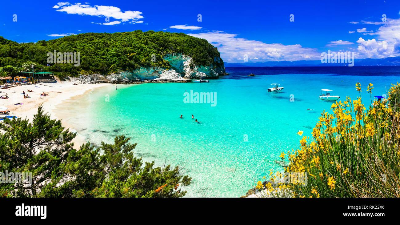 Beautiful beach of Antipaxos island,Greece. - Stock Image