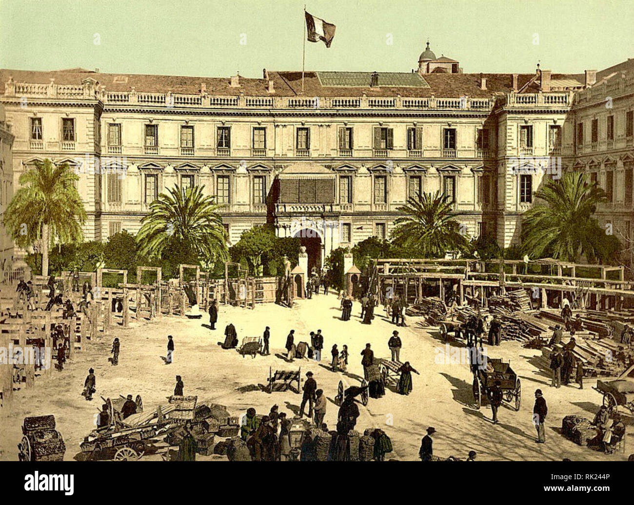 Palais de la Préfecture, Nice, France. Between 1890 & 1910. - Stock Image