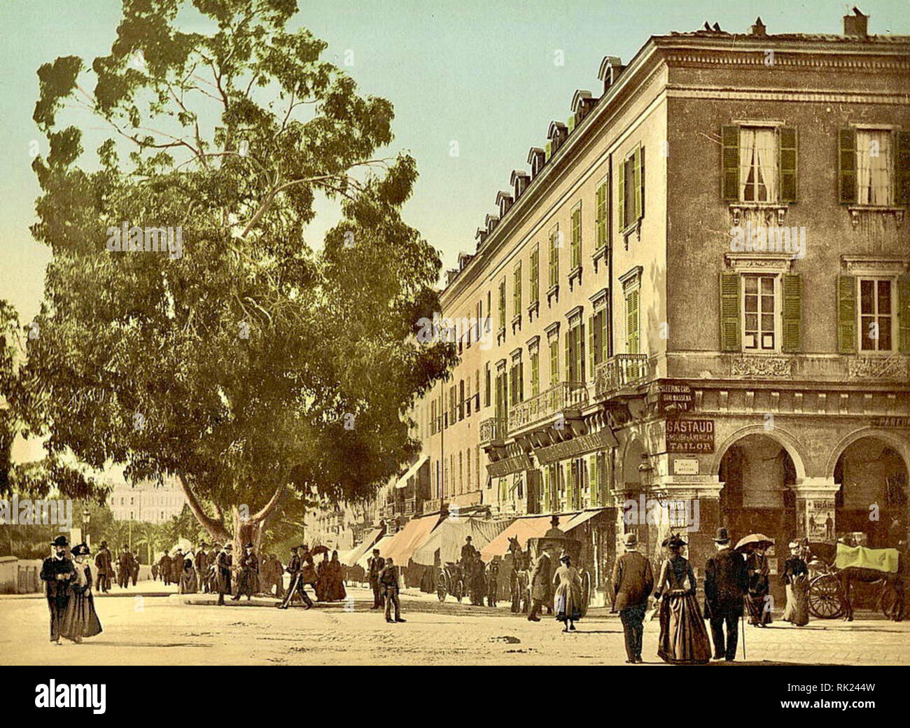 Place Masséna, Nice, France. Between 1890 & 1910. - Stock Image