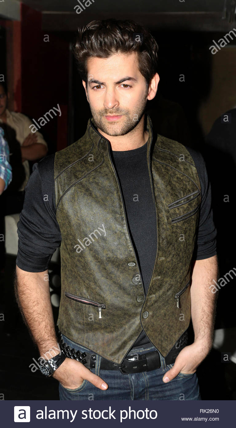Bollywood actor Neil Nitin Mukesh poses during the music launch of his upcoming film 3G in Mumbai, India on February 26, 2013. The Bollywood thriller film written and directed by Shantanu Ray Chhibber and Sheershak Anand will hit the theaters on March 15, 2013. (Aakash Berde) Stock Photo
