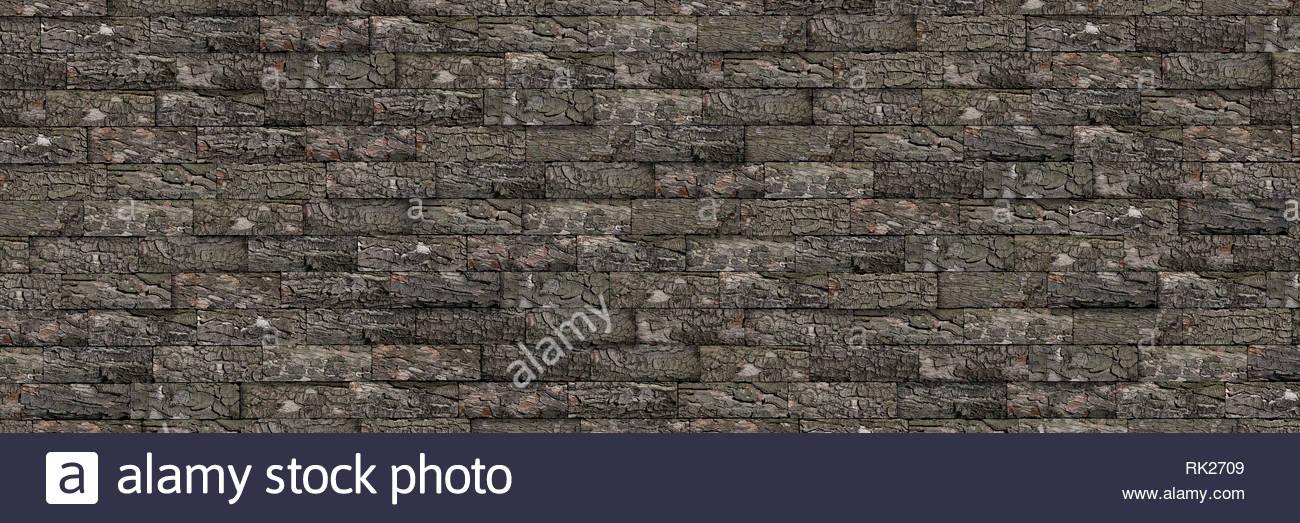 Chestnut bark background texture - Stock Image