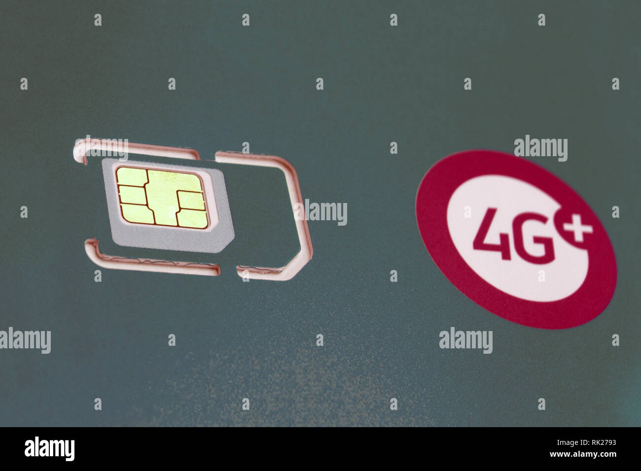 4g network concept illustrated by pictures on background . - Stock Image