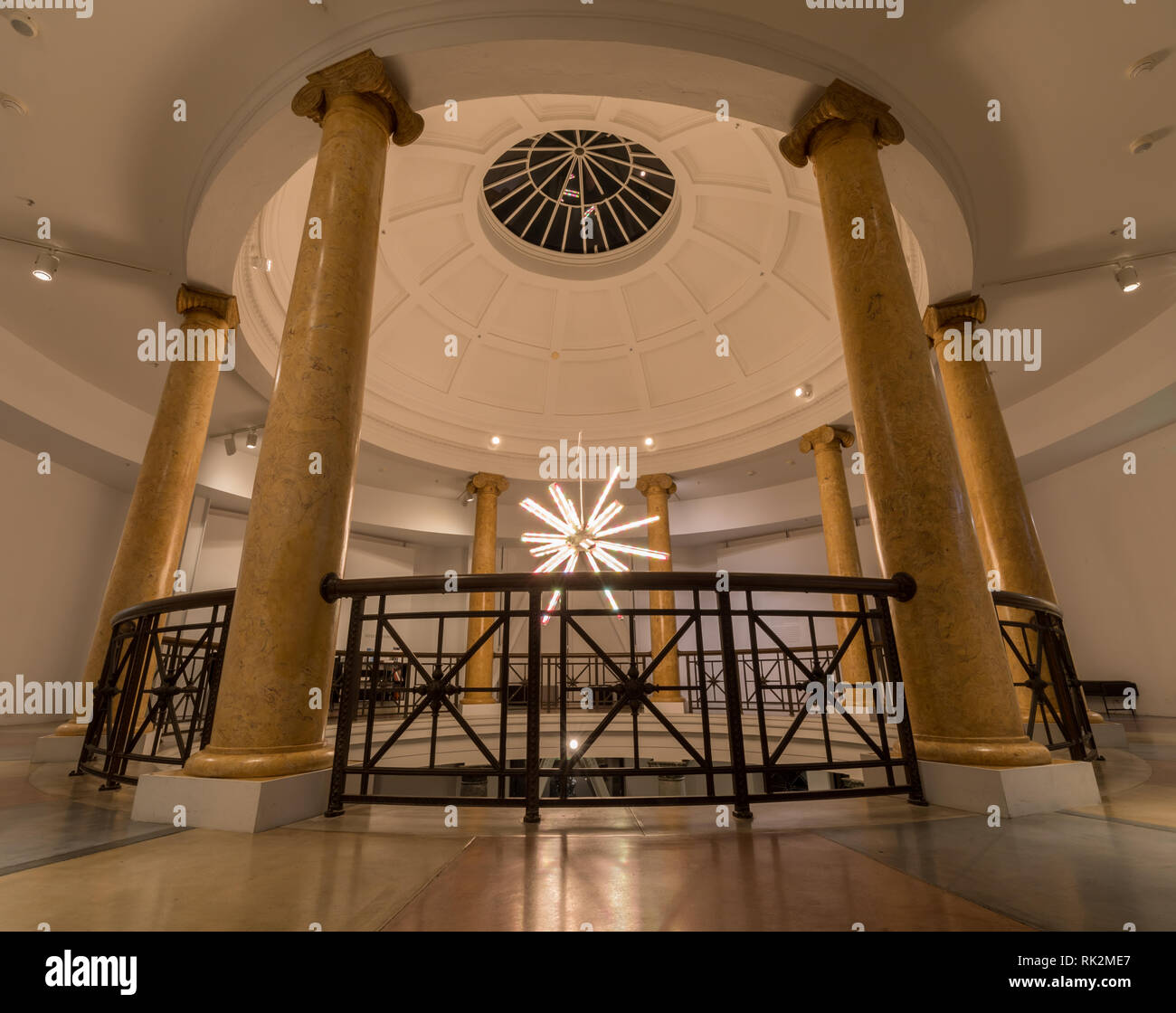 Palo Alto, California - February 7, 2019:  Interiors of the Cantor Center for Visual Arts in San Francisco Bay Area. - Stock Image