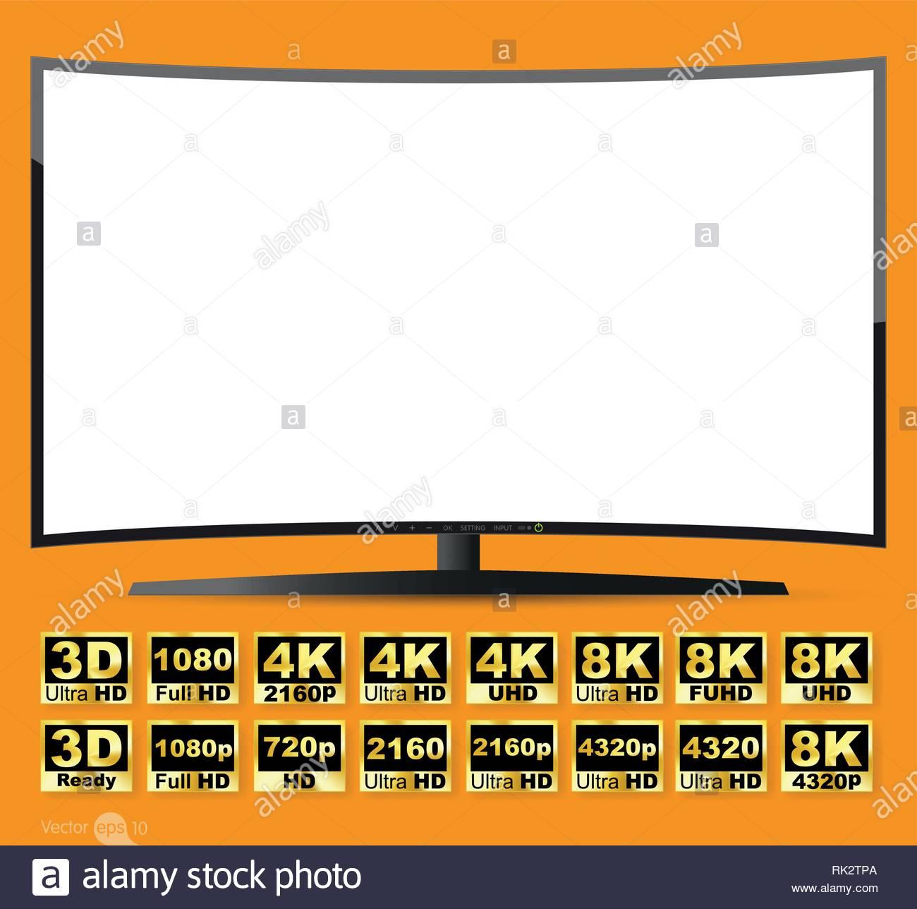 TV Screen Format - Stock Image